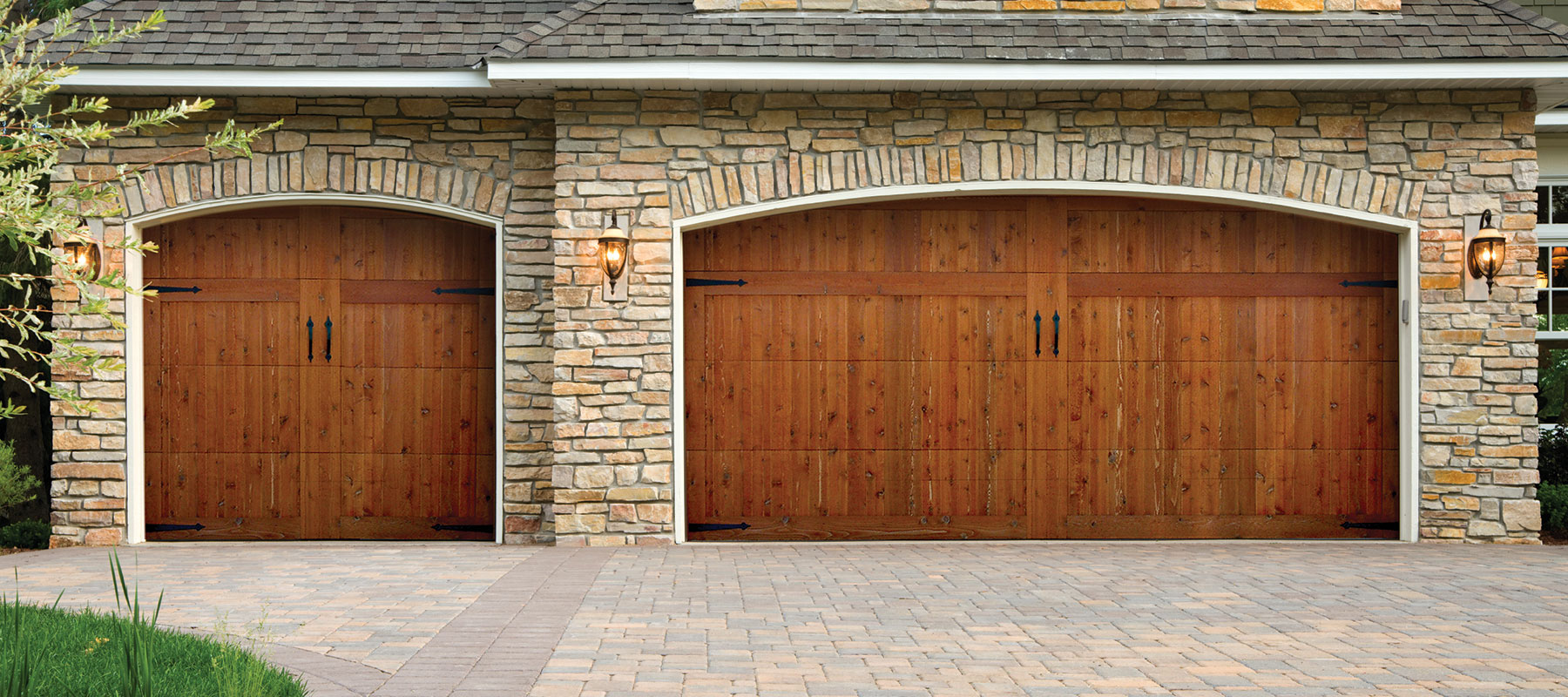 Woodland Creek - Wood Overlay Garage Door